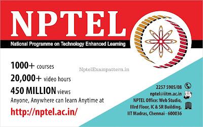 Latest Nptel Exam Pattern Information-2019[UPDATE]