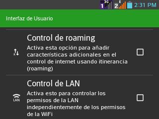 Control Roaming.