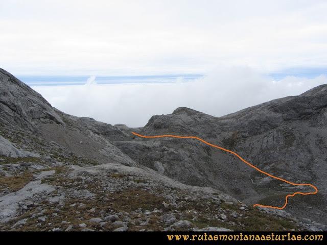 Ruta Pan de Carmen, Torre de Enmedio: Camino del Jou Santu