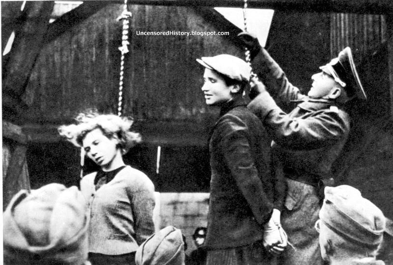 German soldiers hanging women for explanation