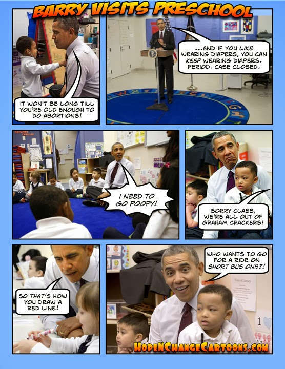 obama, obama jokes, cartoon, humor, political, conservative, tea party, hope n' change, hope and change, stilton jarlsberg, budget, kindergarten, school, derp, red line