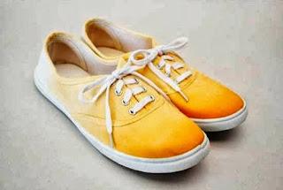 Kreasi Kerajinan Tangan, Mewarnai Sepatu Sendiri