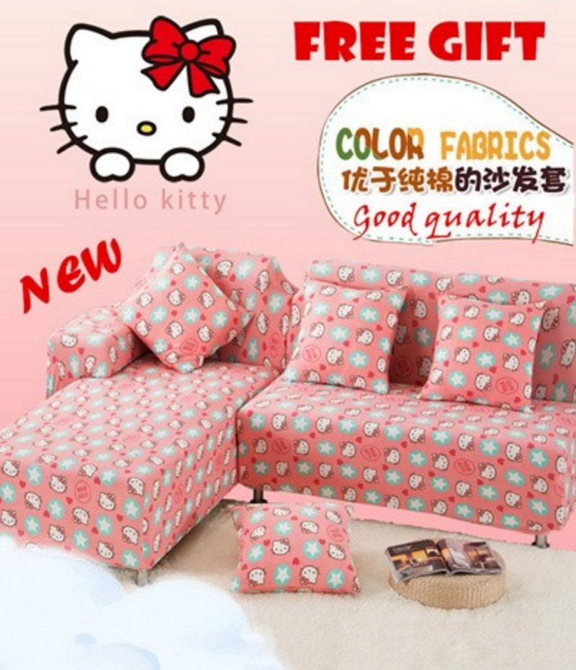 sofa ruang tamu hello kitty 3