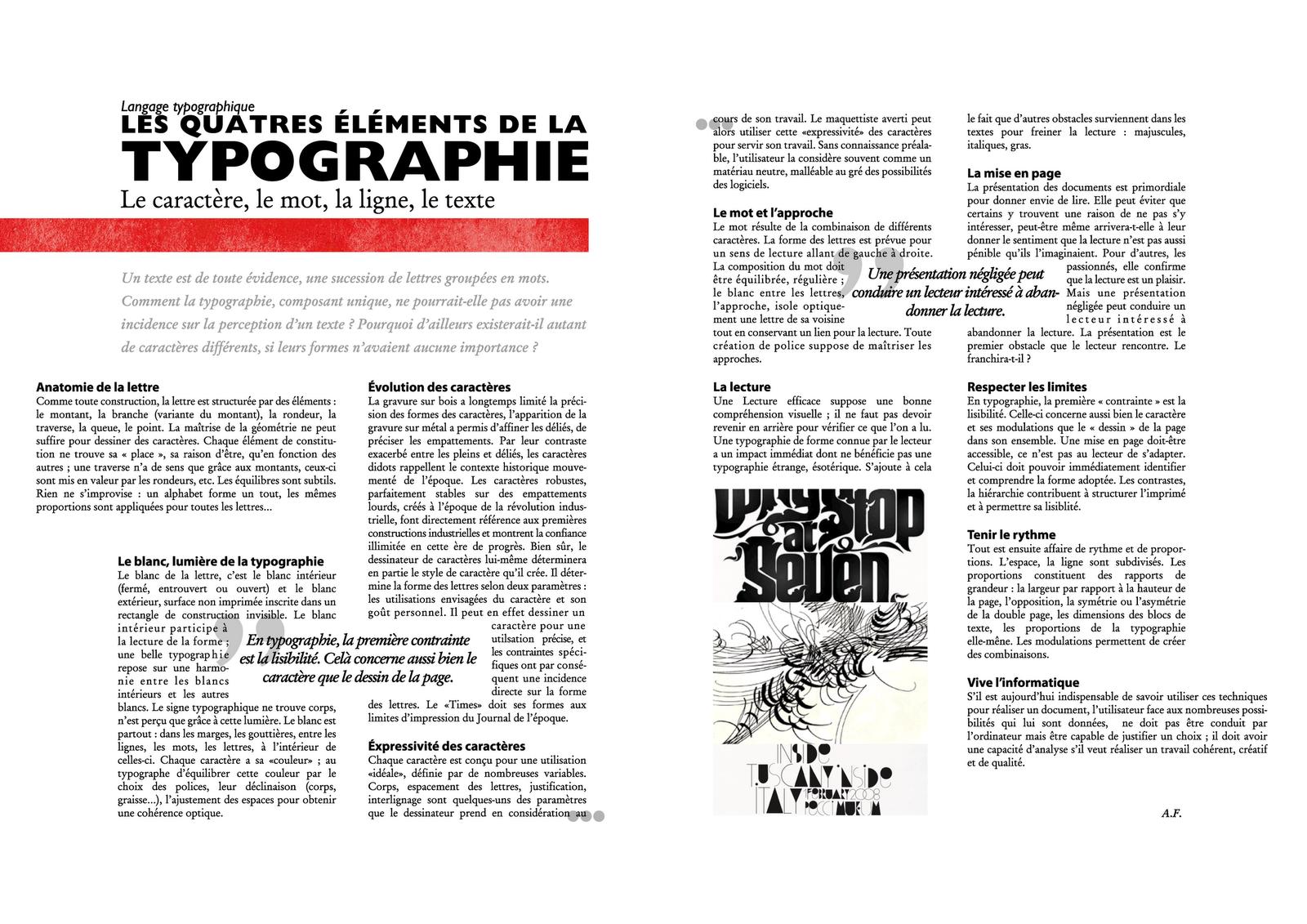 Calendar Typography Quiz : Portfolio typography layout
