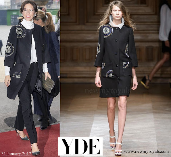 Crown Princess Mary wore YDE Coat from Spring Summer 2016 Collection