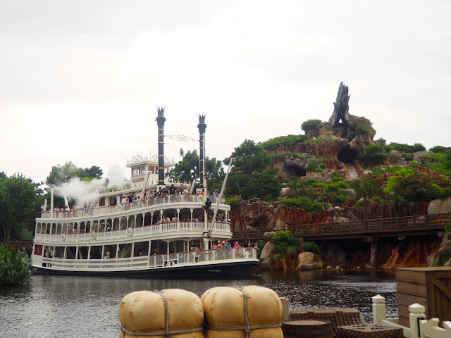 Mark Twain Riverboat & Splash Mountain, Tokyo Disneyland, Japan