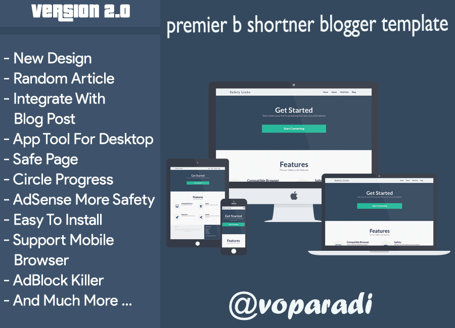 Evo Safelink Blogger Template v1.2