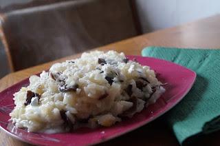 Risotto cu mozzarella si ciuperci