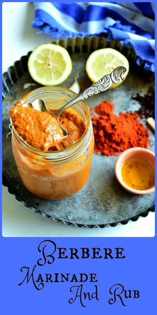 This Berbere Marinade and Rub is one of my faves. Delicious on fish, poultry or meat! Made with chilies and paprika, lemon juice and ginger plus a bunch of other things this os one paste you will find a use for! #marinade #rub #berbere www.thisishowicook.com