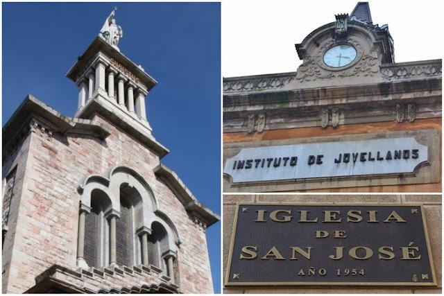 Iglesia del Sagrado Corazón Iglesiona - Antiguo Instituto Jovellanos – Placa de la nueva Iglesia San José de Gijón