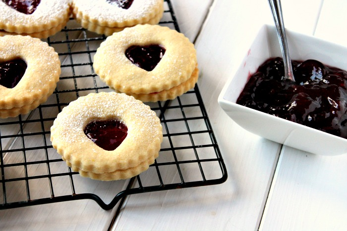 Jammy Heart Biscuits