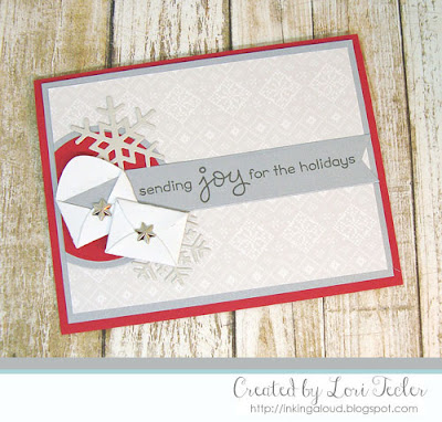Sending Joy card-designed by Lori Tecler/Inking Aloud-stamps from Lawn Fawn