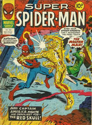 Super Spider-Man #262, the Molten Man