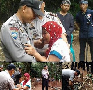 Polisi Sedekahkan Tanah untuk Warga Kurang Mampu Bangun Rumah