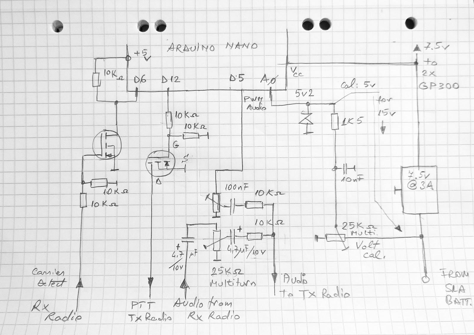 Low profile duplex UHF Repeater