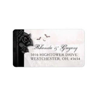 Gothic Romantic Love Halloween Wedding Address Label