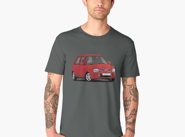 Nissan Micra / Nissan March - car t-shirts - red