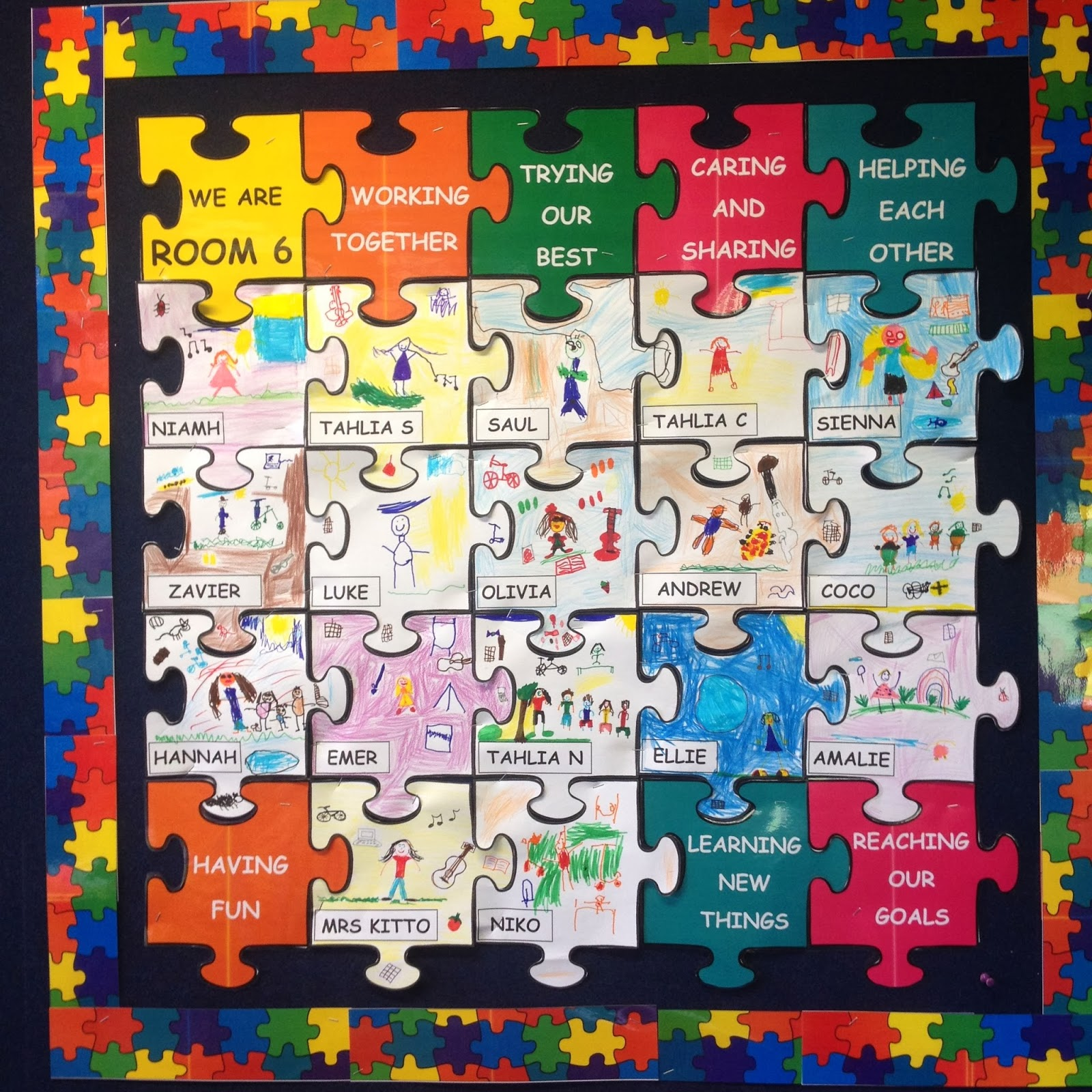 We Talked About How Our Cl Fits Together Like The Jigsaw Puzzle Are Room 6 This Year Will Work As A Group To Help Everyone