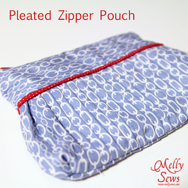 Make an easy pleated zip pouch - DIY sewing tutorial - Melly Sews