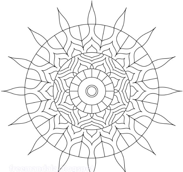 Tun Meditation Mandala | Free Mandala Download