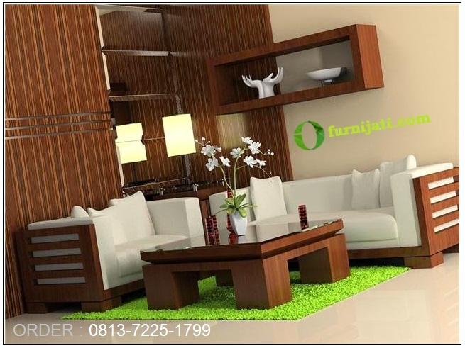 furniture jati ruang tamu, meja kursi tamu, minimalis modern