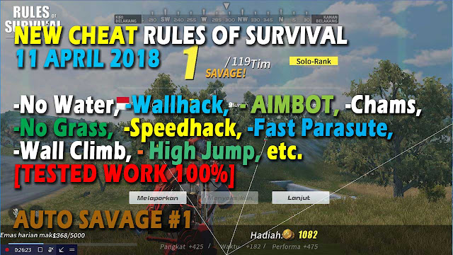 Cheat Rules of Survival Glutamin 1.0 Update 11 April 2018