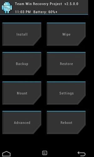 antar muka twrp sistem operasi android kustom recovery