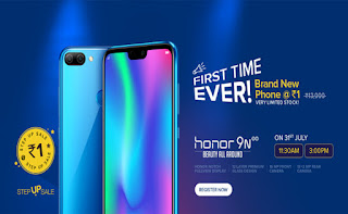 How to Buy Honor 9N for Re. 1 from Flash Sale: ( Over Now )