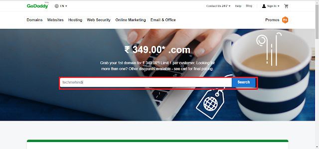 How do I register a domain on GoDaddy?