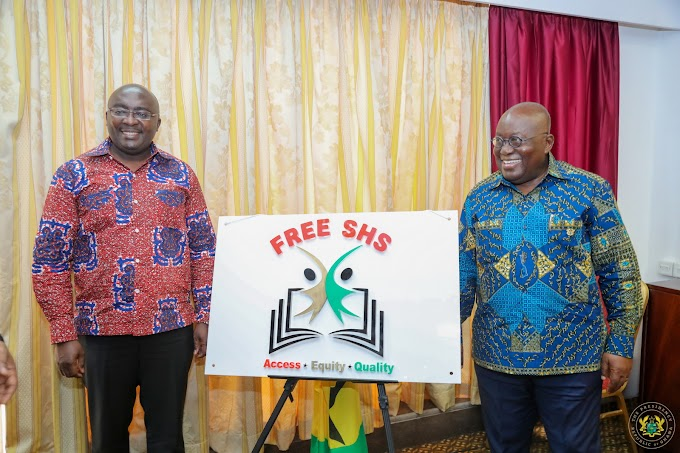 Akufo-Addo unveils free SHS logo