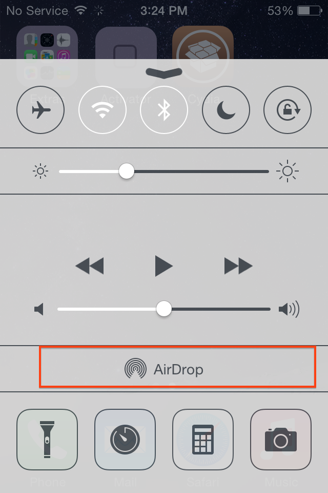 airdrop iphone 4s
