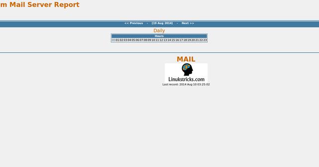 Linukstricks com: SendmailAnalyzer : Mail Log Analyzer