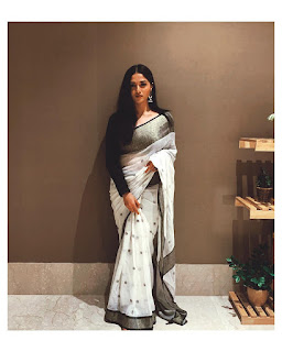 Actress Sunaina Beautiful white Saree Pics