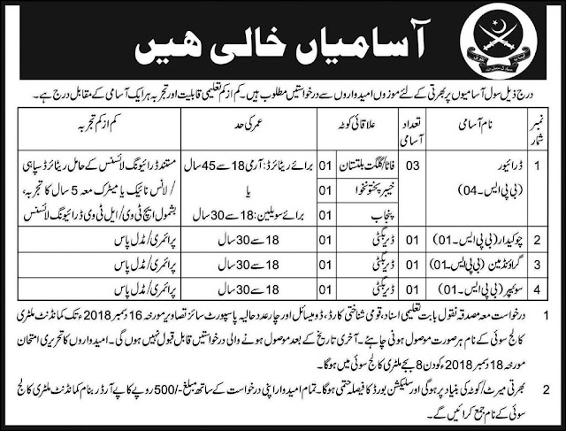 #Jobs - #Career_Opportunities - #Job - In Pakistan Army - visit link for details