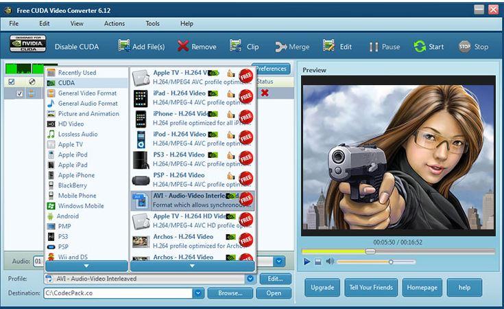תוכנה להמרת וידאו  - CUDA Video Converter