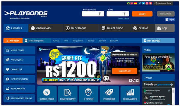 Home do site de apostas Playbonds