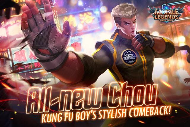 Hero Chou Mobile Legends Menukar Imej Baru - Malaysia - Sofinah Lamudin