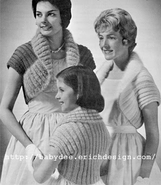 The Vintage Pattern Files: Free 1950's Knitting Pattern - Canadiana Charmers / Boleros