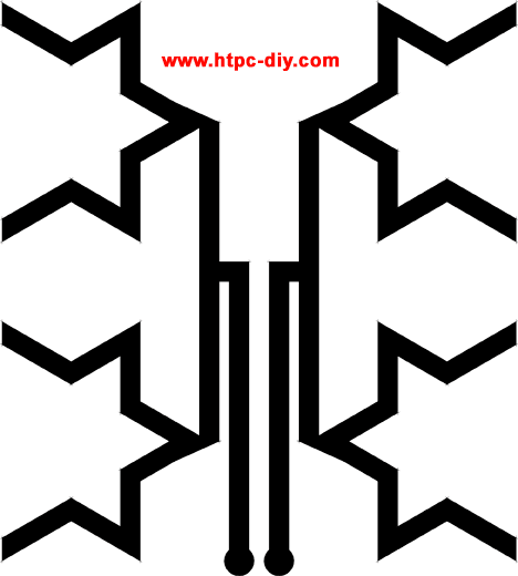 picture about Printable Fractal Antenna Pattern referred to as Do-it-yourself Multipurpose Fractal Window HDTV Antenna