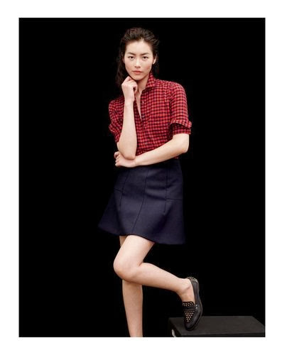 J Crew red and black check shirt