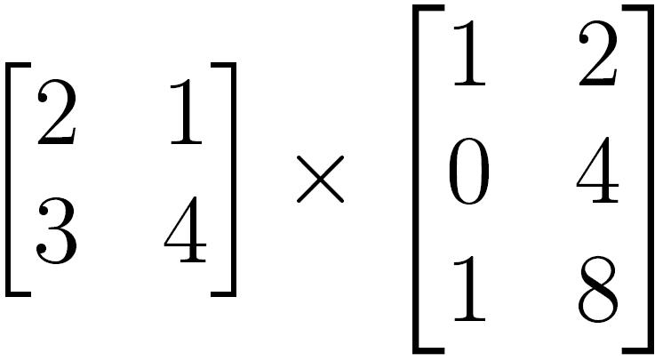Multiplicação de matrizes inválida