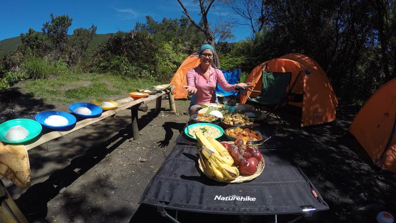 Cara masak di atas gunung