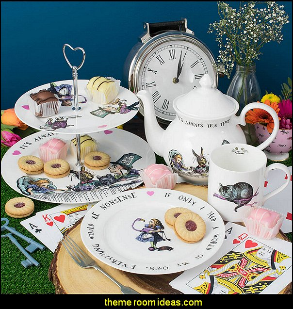 It's Always Tea Time' Alice In Wonderland Teapot