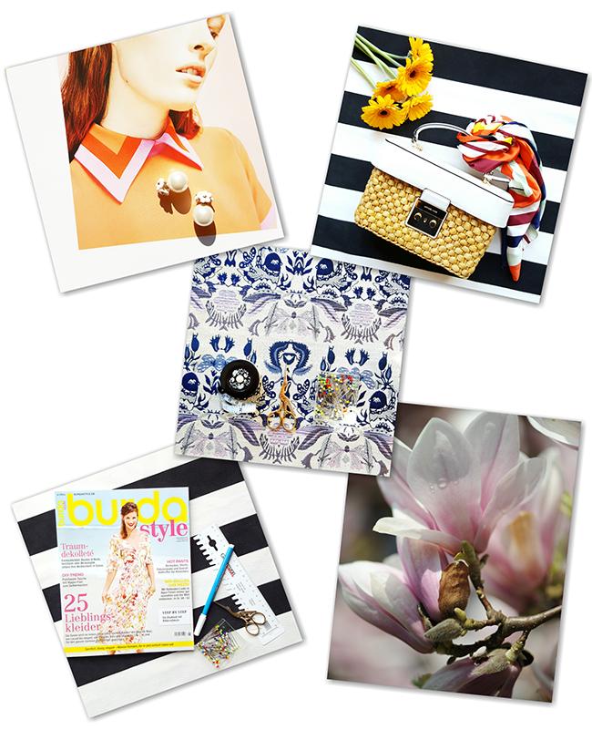 sewing, nähen, Inspiration, Burda style, Michael Kors, tapestry, Gobelin, Magnolia, Magnolie