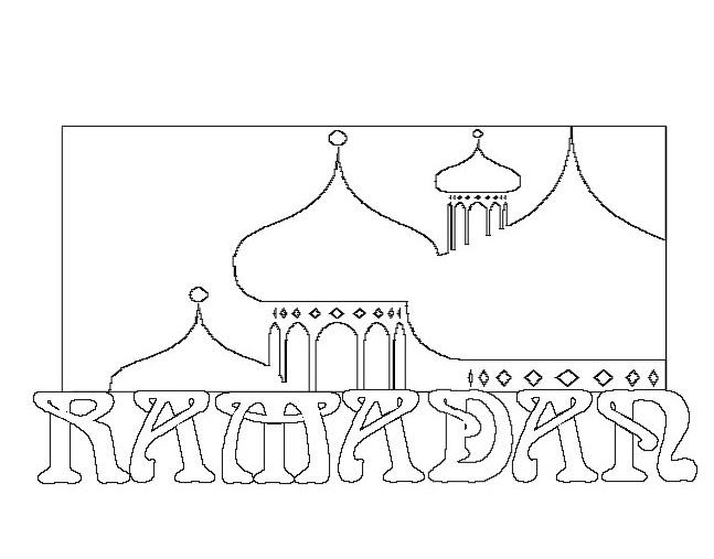 Gambar Mewarnai Ramadhan Terbaru Gambarcoloring