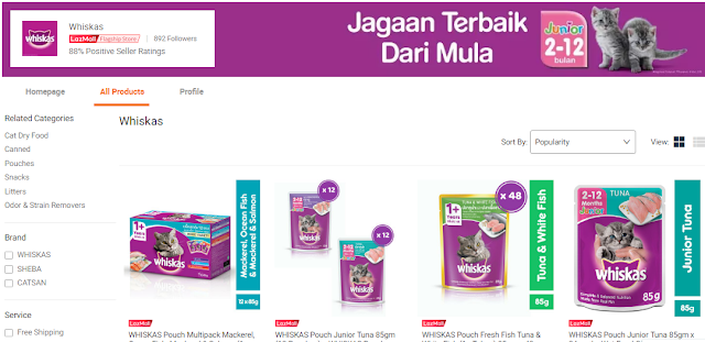 Whiskas, Makanan Kucing Dry Food, Wet Food, Jenama Whiskas, Brand, 2018, Cat Food, Kucing, Whiskas Junior, Canned Food, Lazada Malaysia, Online Shopping, Shopathon Sale, Lazada Shopathon Blogger Contest, 2018,