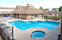 Outdoor pool, hot tub and heated indoor pool