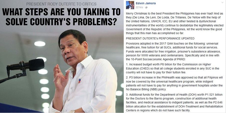 achievements of presidents in the philippines