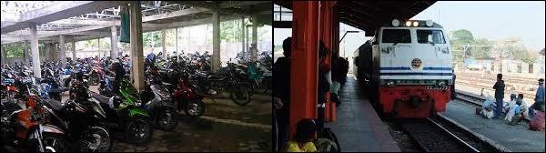 Usaha Parkiran Motor di dekat Stasiun KRL sangat menggiurkan