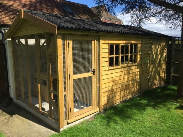 Shedworking garden office and kennel combination for Shed office combo